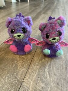 Hatchimals TWINS Peacats Pink Purple Blue Interactive Set Spin Master Toys READ