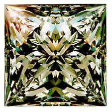 Loose Moissanite Diamond 4 Ring/Pendant 5.02 ct si3/10.05Mm Gray Brown Princess