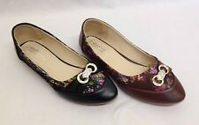 12x Ladies Womens Bridal Floral Dolly Flat Shoes Wholesale clairance Job Lot NEW