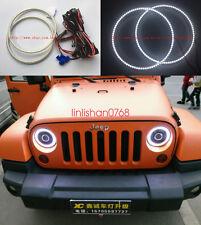 "2x white 7000K LED Angel Eyes Halo Rings For Jeep Wrangler CJ TJ JK 7"" Headlamp"