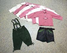 8 tlg. Jungen Kinder Trachten Set in 98/104/110 mit Hemd und Lederhose G537