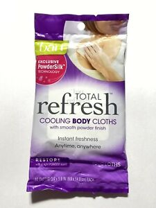 Ban Total Refresh Cooling Body Cloths Restore Light Powder Fresh Scent 10 Wipes