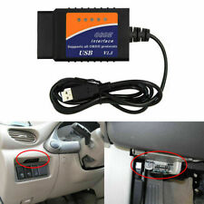 1x Car Scan Tool Cable engine ELM327 USB interface OBD2 Auto Diagnostic Scanner