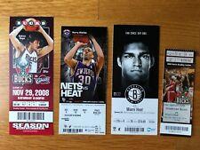 King LeBron James 4 Ticket Stub Lot- Cleveland Cavaliers, Miami Heat- MVP