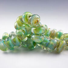 Oasis - 8 Handmade Lampwork Glass Beads, SRA Artist made Beads