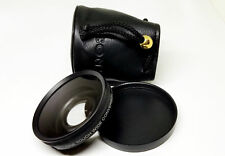SONY One Touch Wide Conversion Lens VCL-ES06 X0.6 with Cap and Pouch