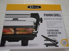 Bella Non-Stick Panini Grill  Brushed Stainless Steel -  Sensio 13267 - New