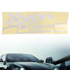 Limited Edition Sports Tuning Flagge Auto Aufkleber Tuning Racing Decal Silber