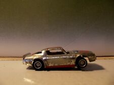 Tyco Chrome / Red Pontiac Firebird Trans-Am Ho Slot Car With 440-X2 Wide Chassis