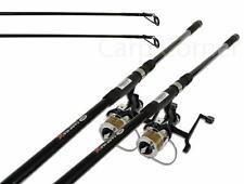 2 x NGT 12ft 3 Piece 2.75lb Carp Rods & 2x Free spool 2BB Runner Reels Fishing