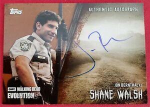 2017 Topps The Walking Dead Evolution Jon Bernthal as Shane Autograph Sp #40/99