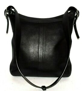 Vtg Coach Legacy Black Leather Gallery Convertible Duffle Bag 9188