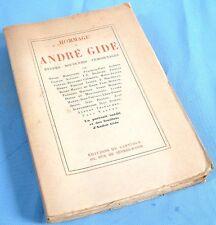 Hommage à André Gide– Études, Souvenirs, Témoignages etc.  / Éditions du Capitol