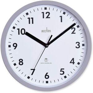 Acctim Nardo 20cm Radio Controlled Grey Wall Clock 74667