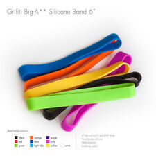 "Grifiti Big-Ass Bands 6"" 20 Pack Tough Silicone Replaces Rubber or Elastic Bands"