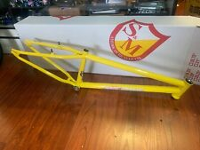"""S&M 24 INCH STEEL PANTHER RACE FRAME YELLOW 22 22"""" BMX SPEED WAGON OG CRUISER"""