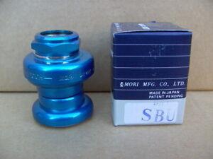 NOS BMX MORI EPOCH HEADSET 1 INCH 32.7mm BLUE OLD SCHOOL NIB BOXED