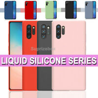 Case for Samsung Galaxy Note 10/Plus 5G Shockproof LIQUID Silicone Soft Cover