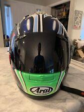 Arai RX-7 Corsair NAKANO Helmet Full Faced Helmet Green Medium Dark Visor