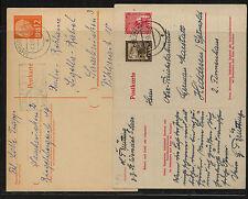 Saar   2  postal  cards   one uprated    MS0827