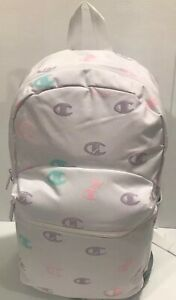 NWT CHAMPION SUPER SIZE BACKPACK CHY1013-105 WHITE COLOR W/champion Logo