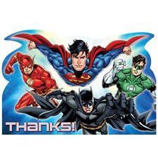 8 Justice League per Bambini Festa di Compleanno Ringraziamenti