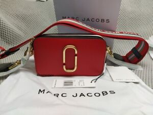 HOT Brand MARC JACOBS Snapshot Small Camera Bag FIRE RED MULTI bag sales