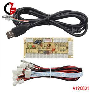USB Arcade Encoder Zero Delay PC to Joystick 5Pin MAME Sanwa Push Button + Cable