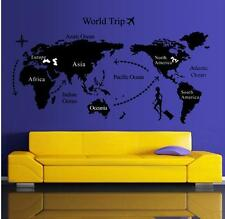 World Map Home Decor Quote Removable Vinyl Decal Mural Wall Stickers vinyl