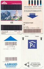 4x verschiedene Tickets -- Deutschland, Österreich