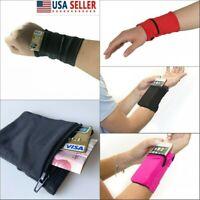 Women Men Multifunctional Wrist Wallet Travel Pouch Pocket Key Zipper Wrist Bag