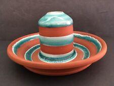 David Greenbaum Pottery Candle Holder SIGNED Terre Cotta Art Original