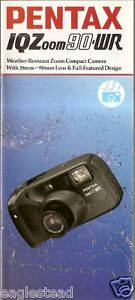 Camera Brochure - Pentax - IQ Zoom 90-WR 105-R 140 Summary  - Set of 4 (CB94)