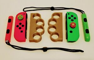 Nintendo Switch Neon Pink And Neo Green Joy-Con Set, Straps + Knuckle Grips