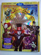 Alice Through the Looking Glass w/Slipcover (Blu-ray, DVD, Digital HD) NEW
