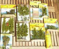 Noch H0 Konvolut F Modellwasser + Wassereffekte + Busch+ Faller Bäume, Grasleim