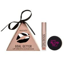 NEW Australis Goal Getter GRLBOSS Nude Lip Cream & Dirty Gal Scrub Duo Gift Set