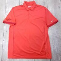 Nike Golf Tour Performance Polo Shirt Mens Large Red Dri-Fit Short Sleeve P120
