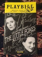 Laura Linney, Cynthia Nixon And Cast Signed The Little Foxes Playbill
