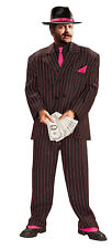 Jazzy Pink Gangster Mens Adult Pimp Halloween Costume Suit-Xl