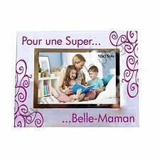 """Cadre photo """"Pour un Super ... Belle-Maman"""" horizontal idée cadeau neuf"""