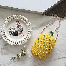 Handmade Acrylic Rhinestones Pineapple purse wallet on chain resin handbags