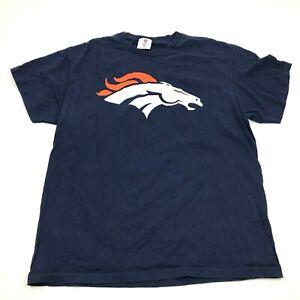 NFL Peyton Manning Denver Broncos Shirt Size Large L Blue Short Sleeve Tee Adult