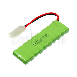 Rechargeable Battery Ni-MH 2/3AAA with Cable 2 Pin 12V 500mAh