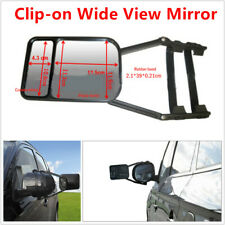 Adjustable Dual Glass SUV Truck Trailer Towing Mirror Clip-on Assisted Wide View