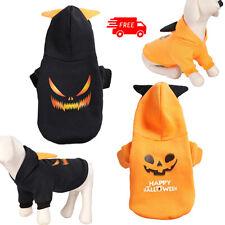 Halloween Dog Puppy Pumpkin Devil Pet Cat Costumes Sweater Warm Dress 2 Colors