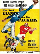 1962 Green Bay Packers NFL Championship Program vs. New York Giants EX+