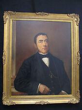 """RITRATTO DI NOBILUOMO."""" LA PROVENDIERE"""" OLIO SU TELA-CORNICE DORATA COEVA. 1850."""