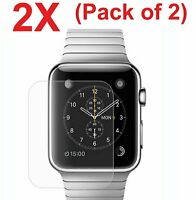 2-PACK Tempered Glass Screen Protector For Apple Watch 38mm/42mm (Series 1 & 2)