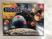Solar System Floor Puzzle 48 Jumbo PC Melissa & Doug 2'x3' Age 3+Toddler Puzzle